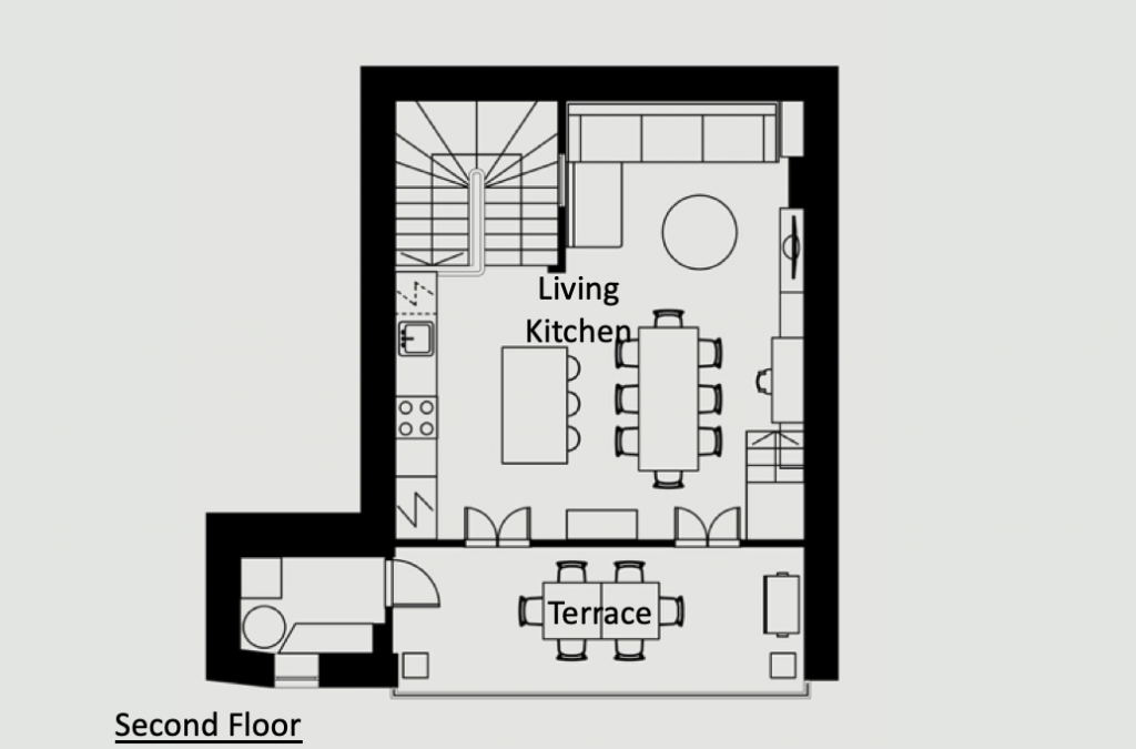 Antibes Rental - Maison du Village - Floorplan
