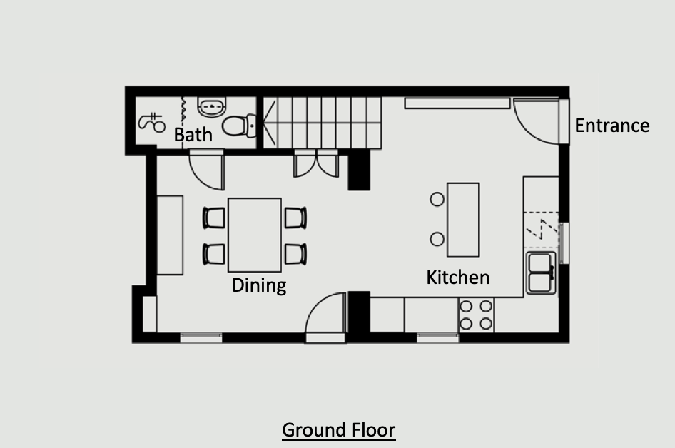 Antibes Rental - Maison du bateau - Layout - Ground Floor