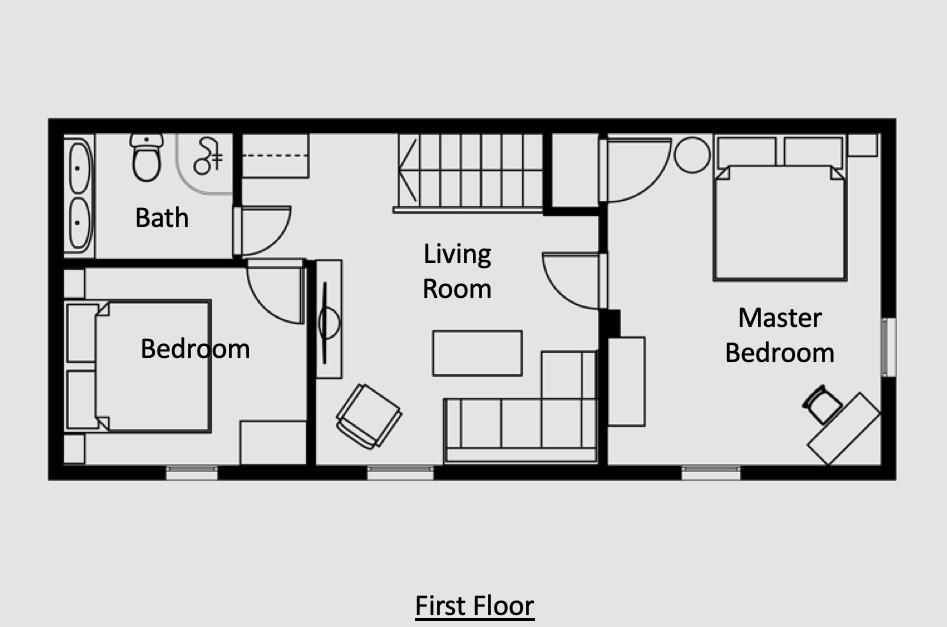 Antibes Rental - Maison du bateau - Layout - First Floor