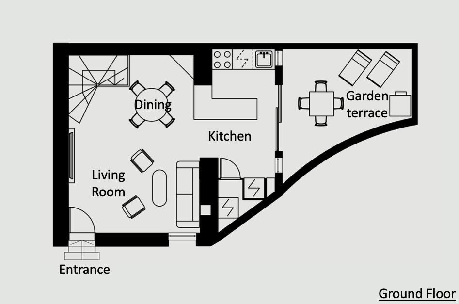 Antibes Rental - Maison du Village - floorplan